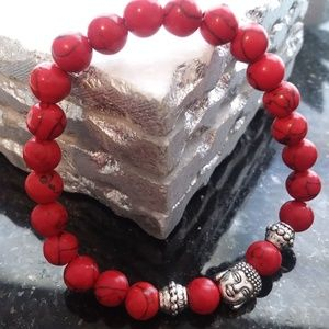 Jewelry - Genuine Howlite Beaded Yoga Reiki Bracelet Mala